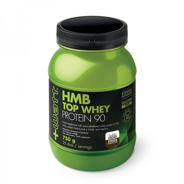 HMB Top Whey Protein 90 in polvere 750gr gusto Cacao