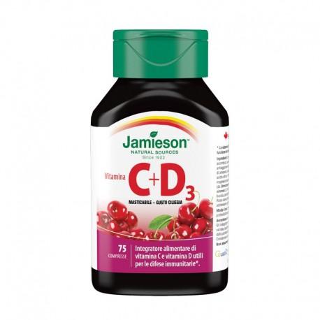 Vitamina C + D3 masticabile ciliegia